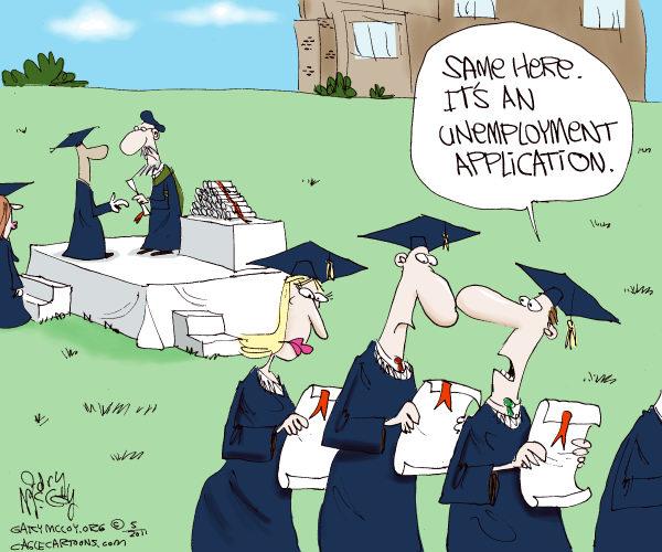 unemployment graduation